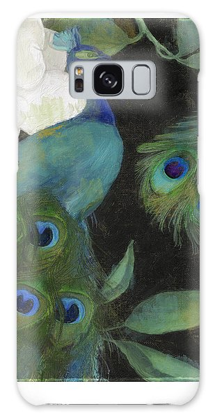 Peacock Galaxy Case - Peacock And Magnolia II by Mindy Sommers