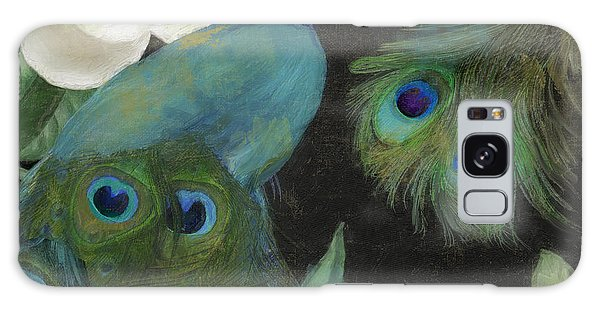 Peacocks Galaxy Case - Peacock And Magnolia II by Mindy Sommers