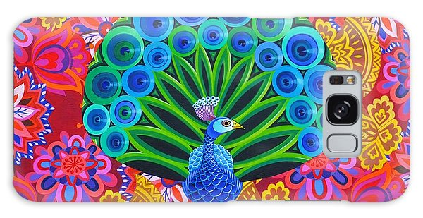 Iridescent Galaxy Case - Peacock And Pattern by Jane Tattersfield