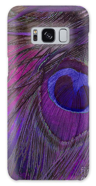 Peacock Candy Purple  Galaxy Case by Mindy Sommers