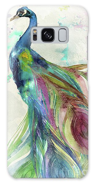 Peacocks Galaxy Case - Peacock Dress by Mindy Sommers