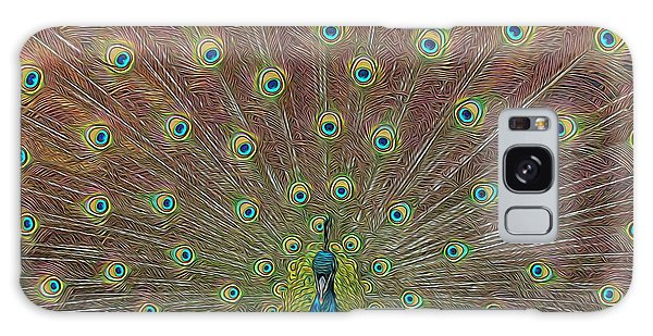 Peacock Fanfare Galaxy Case by Diane Alexander