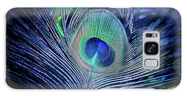 Galaxy Case featuring the photograph Peacock Feather Blush by Sharon Mau