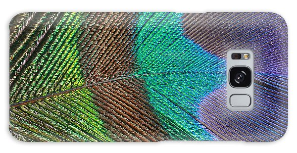 Peacock Feather Close Up Galaxy Case