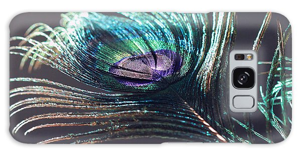 Peacock Feather In Sun Light Galaxy Case