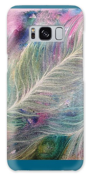 Peacock Feathers Pastel Galaxy Case by Denise Hoag