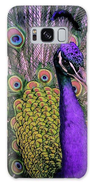 Peacock In Purple 2 Galaxy Case