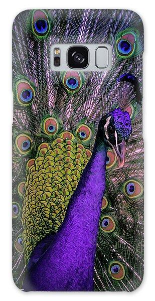 Peacock In Purple Galaxy Case