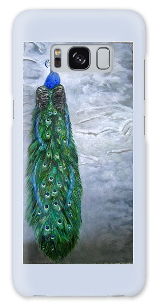 Peacock In Winter Galaxy Case