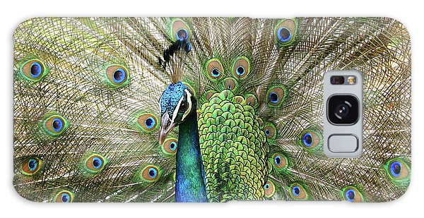 Galaxy Case featuring the photograph Peacock Indian Blue by Sharon Mau