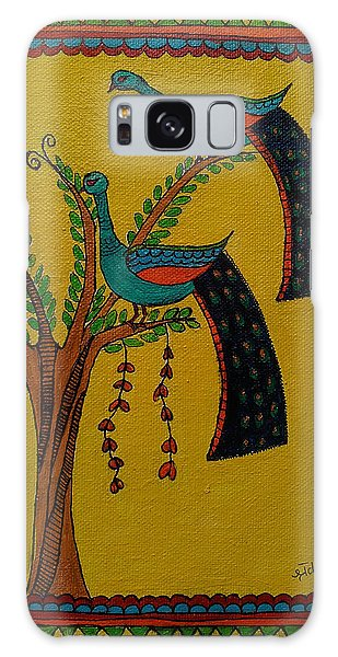 Madhubani Galaxy Case - Peacock-madhubani by Shraddha Zope-Ladhe