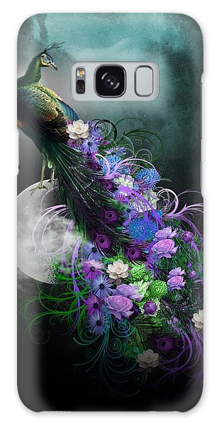 Peacock Of  Flowers Galaxy Case