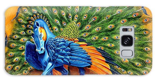 Peacocks Galaxy Case - Peacock Pegasus by Melissa A Benson