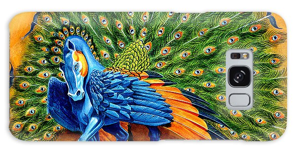 Mythology Galaxy Case - Peacock Pegasus by Melissa A Benson