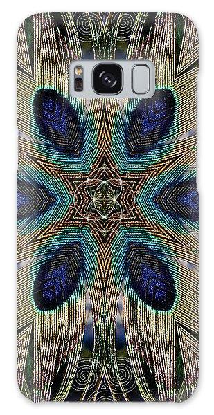 Peacock Power Galaxy Case
