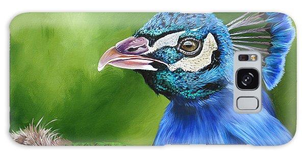 Peacock Profile Galaxy Case