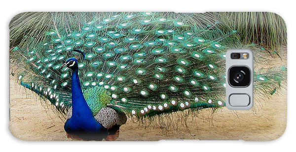 Peacock Showing All Feathers Galaxy Case