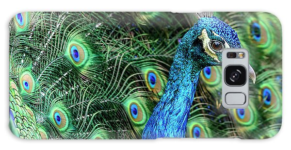 Galaxy Case featuring the photograph Peacock by Steven Sparks