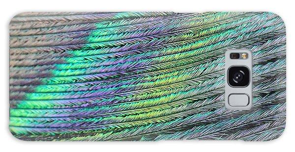Peacock Stripes Galaxy Case