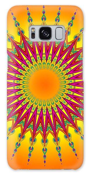 Peacock Sun Mandala Fractal Galaxy Case