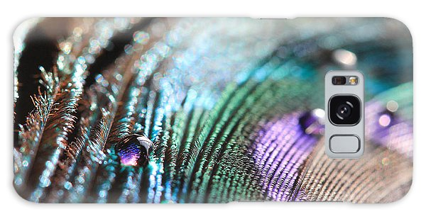 Peacock Swirls Galaxy Case