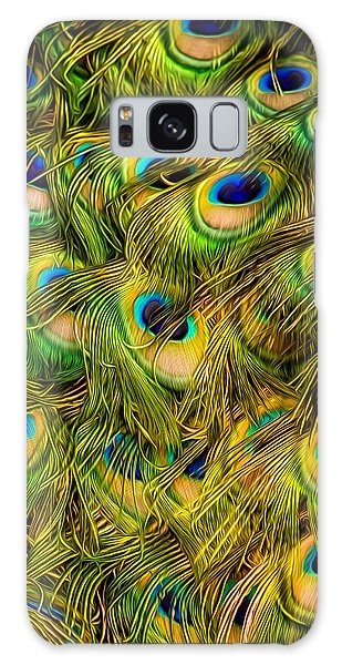 Peacock Tails Galaxy Case