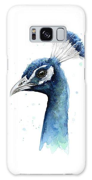 Peacock Galaxy S8 Case - Peacock Watercolor by Olga Shvartsur