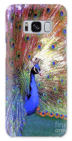 Peacock Wonder, Colorful Art Galaxy Case