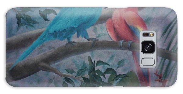 Peacocks In The Jungle Galaxy Case