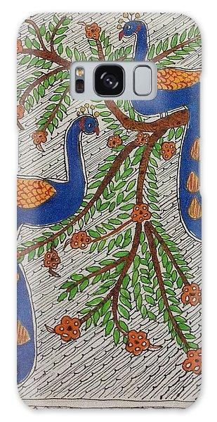Madhubani Galaxy Case - Peacocks by Meena Arunachalam