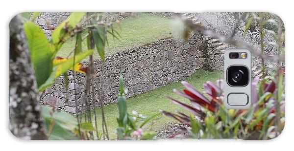 Peeking In At Machu Picchu Galaxy Case