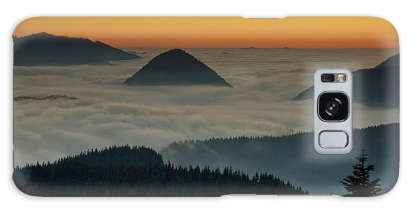 Peaks Above The Fog At Sunset Galaxy Case by Jeff Goulden