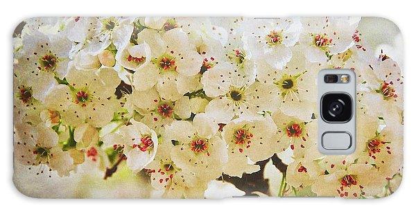Pear Tree Blossoms   Galaxy Case