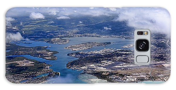 Pearl Harbor Aerial View Galaxy Case