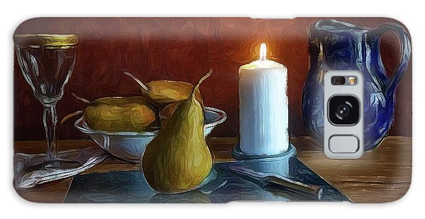 Pears By Candlelight Galaxy Case by Mark Fuller