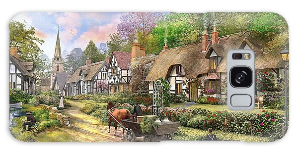 Cottage Galaxy Case - Peasant Village Life Variant 1 by MGL Meiklejohn Graphics Licensing