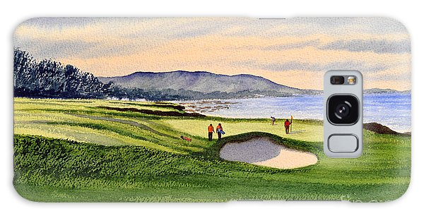 Pebble Beach Golf Course Galaxy Case by Bill Holkham