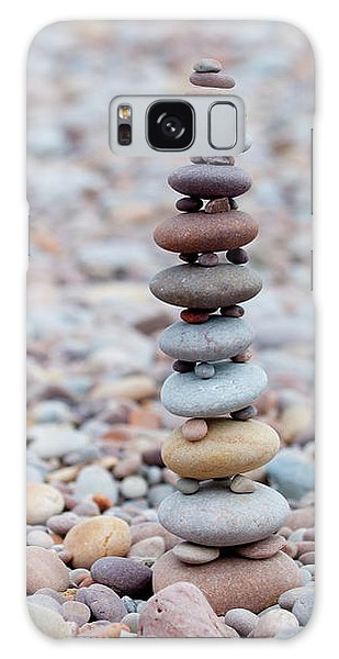 Pebble Stack II Galaxy Case by Helen Northcott