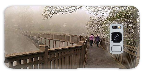Pedestrian Bridge Early Morning Galaxy Case