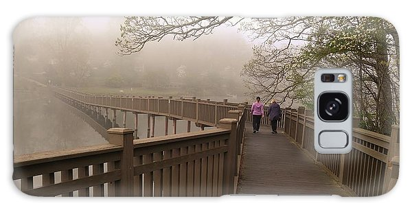 Pedestrian Bridge Early Morning Galaxy Case