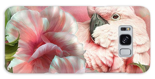 Peek A Boo Cockatoo Galaxy Case by Carol Cavalaris