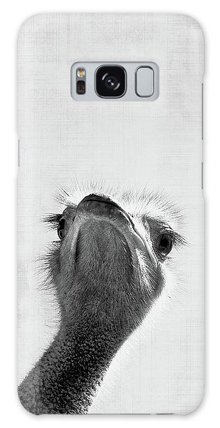 Ostrich Galaxy Case - Peekaboo Ostrich by Delphimages Photo Creations