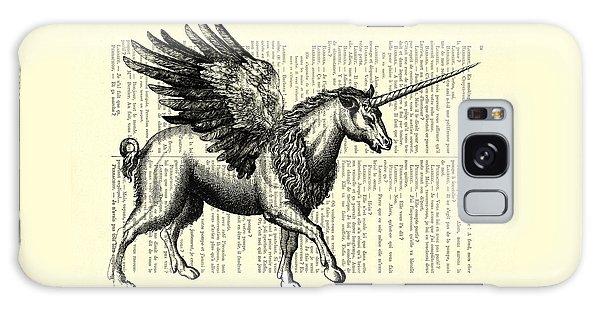 White Horse Galaxy Case - Pegasus Black And White by Madame Memento