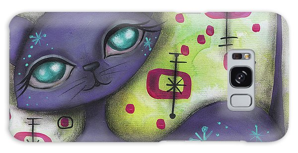 Peggy Cat Galaxy Case by Abril Andrade Griffith