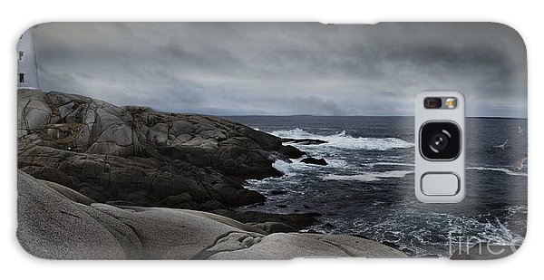 Peggys Cove Impending Storm Galaxy Case