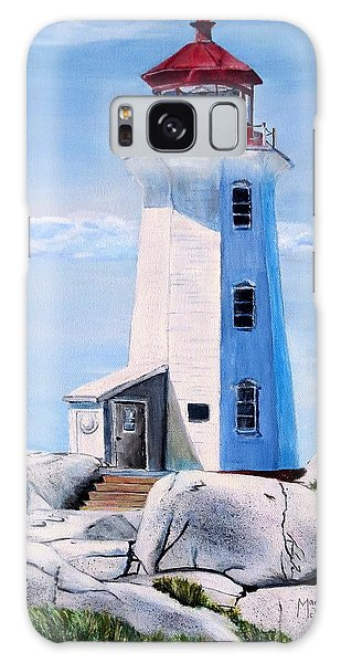 Peggy's Cove Lighthouse Galaxy Case