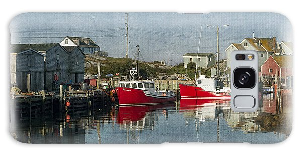 Galaxy Case featuring the photograph Peggys Cove Marina by Dan Friend