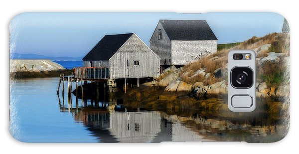 Peggys Cove Marina With Fishing Houses  Galaxy Case