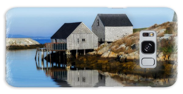 Galaxy Case featuring the photograph Peggys Cove Marina With Fishing Houses  by Dan Friend