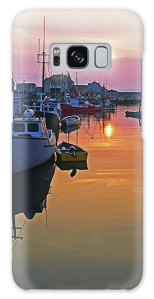 Peggy's Cove Sunset, Nova Scotia, Canada Galaxy Case